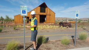 Handicap Sign Installation- 3