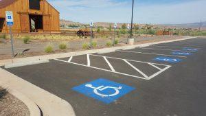 Handicap Sign and Bumper Blocks- 1